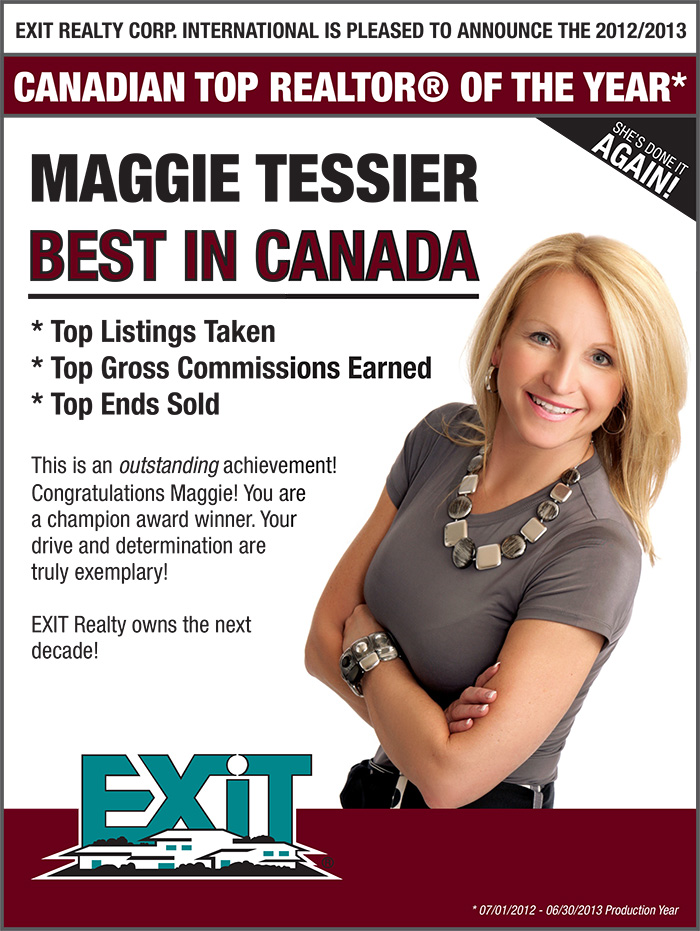 Maggie Tessier: EXIT Realty's Canadian Top REALTOR® of the Year
