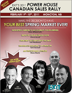 Register Now for EXIT Realty's 2011 Power House Canadian Sales Rally